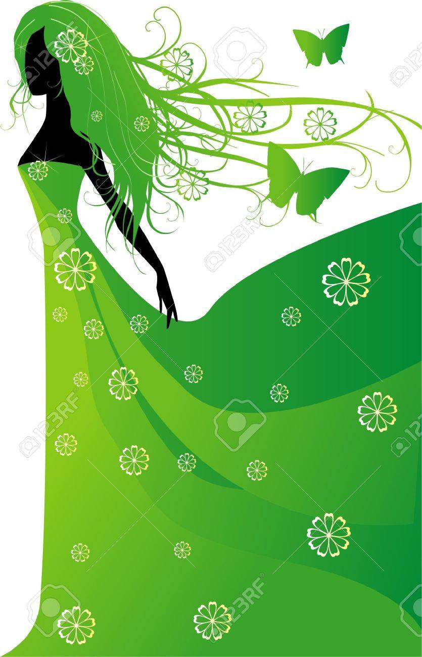 Spring girl Stock Vector - 11658145