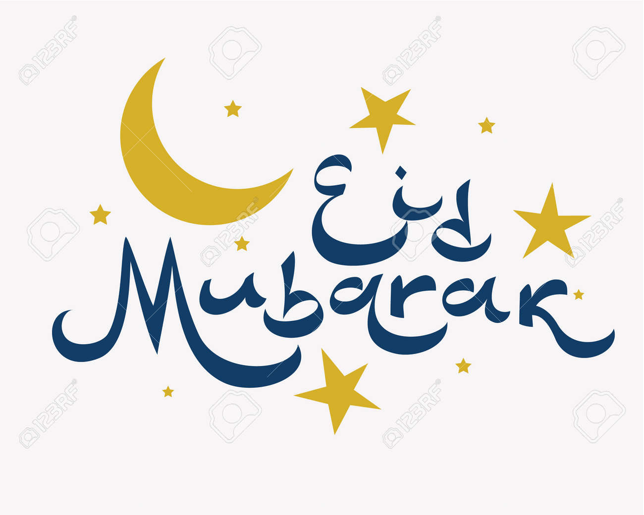 Eid mubarak lettering greeting text vector illustration royalty eid mubarak lettering greeting text vector illustration stock vector 78257161 m4hsunfo