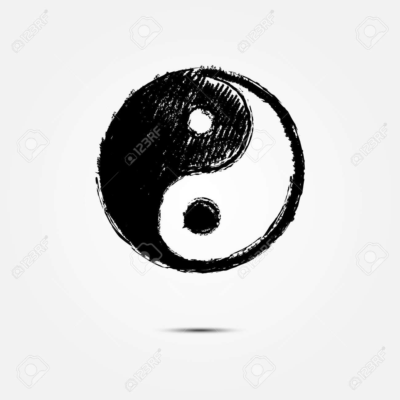 Yin Yang Symbol Drawing Royalty Free Cliparts Vectors And Stock