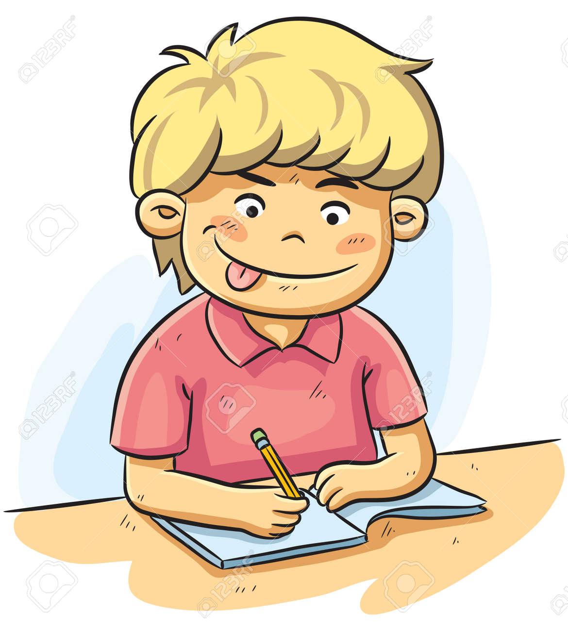 Resultado de imagen de kid writing cartoon