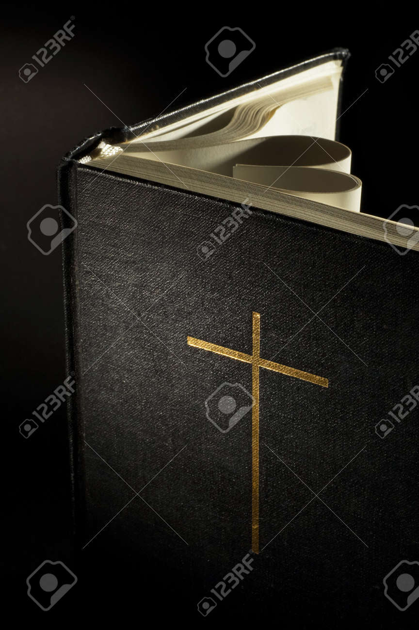 pages of a bible curved into a heart shape Stock Photo - 11015526