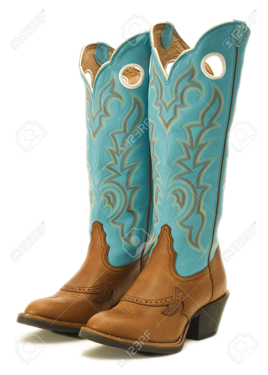 54308d847b3 A pair of cowboy boots on white
