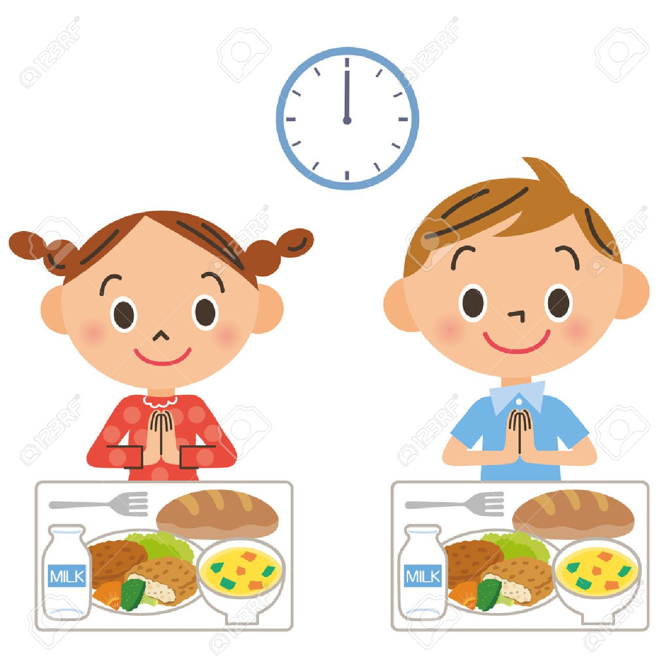 the child who eats lunch royalty free cliparts, vectors, and stock
