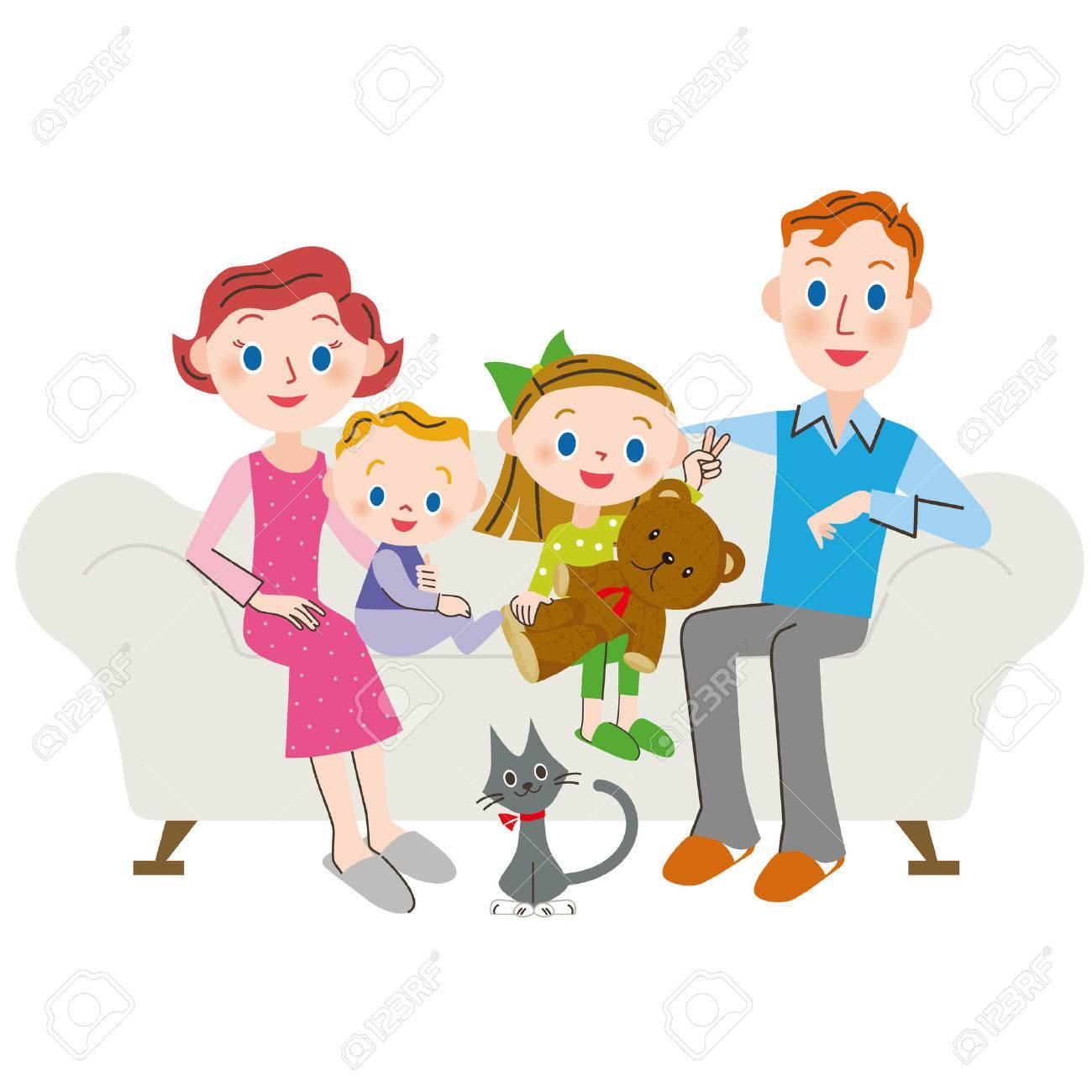 家族の生活の外国人