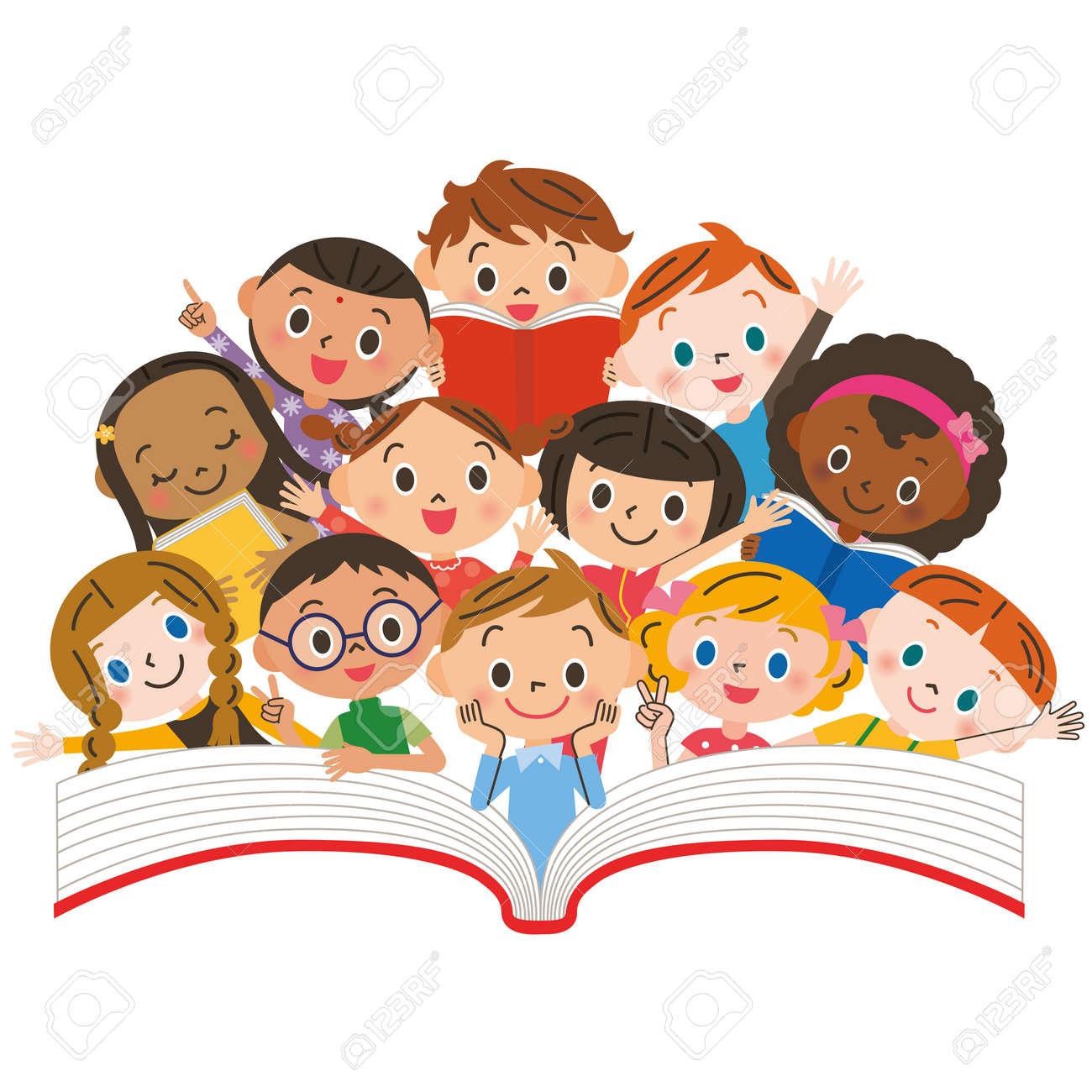 Reading children - 44348846