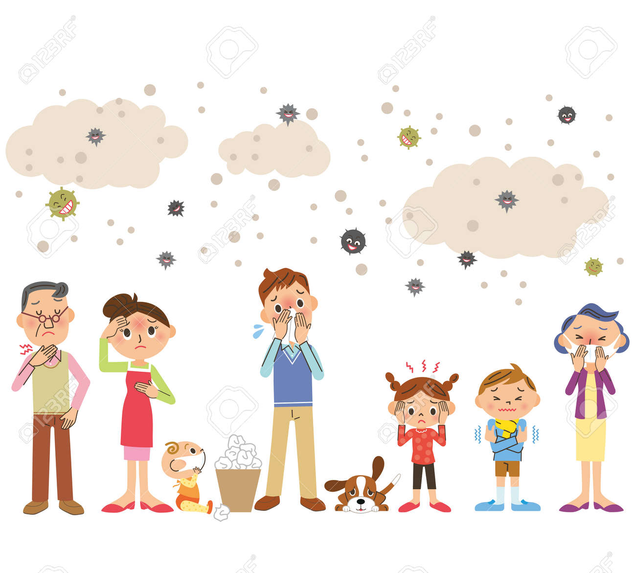 The whole family cold - 115779834