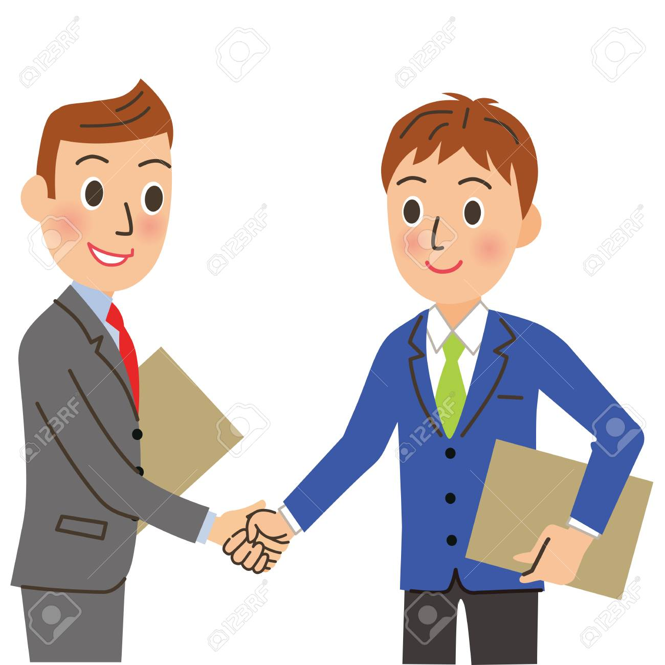 Employee who shakes hands - 119208302