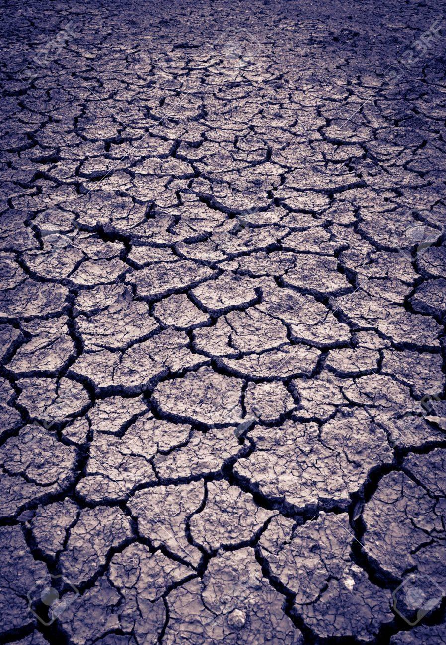 split tone Cracked soil of desert Stock Photo - 10684038
