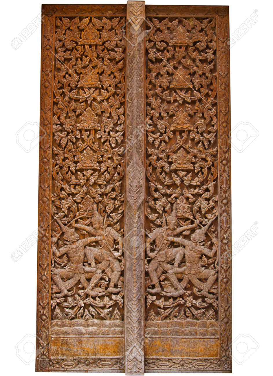 ancient wood carvings door Stock Photo - 10841812  sc 1 st  123RF.com & Ancient Wood Carvings Door Stock Photo Picture And Royalty Free ...