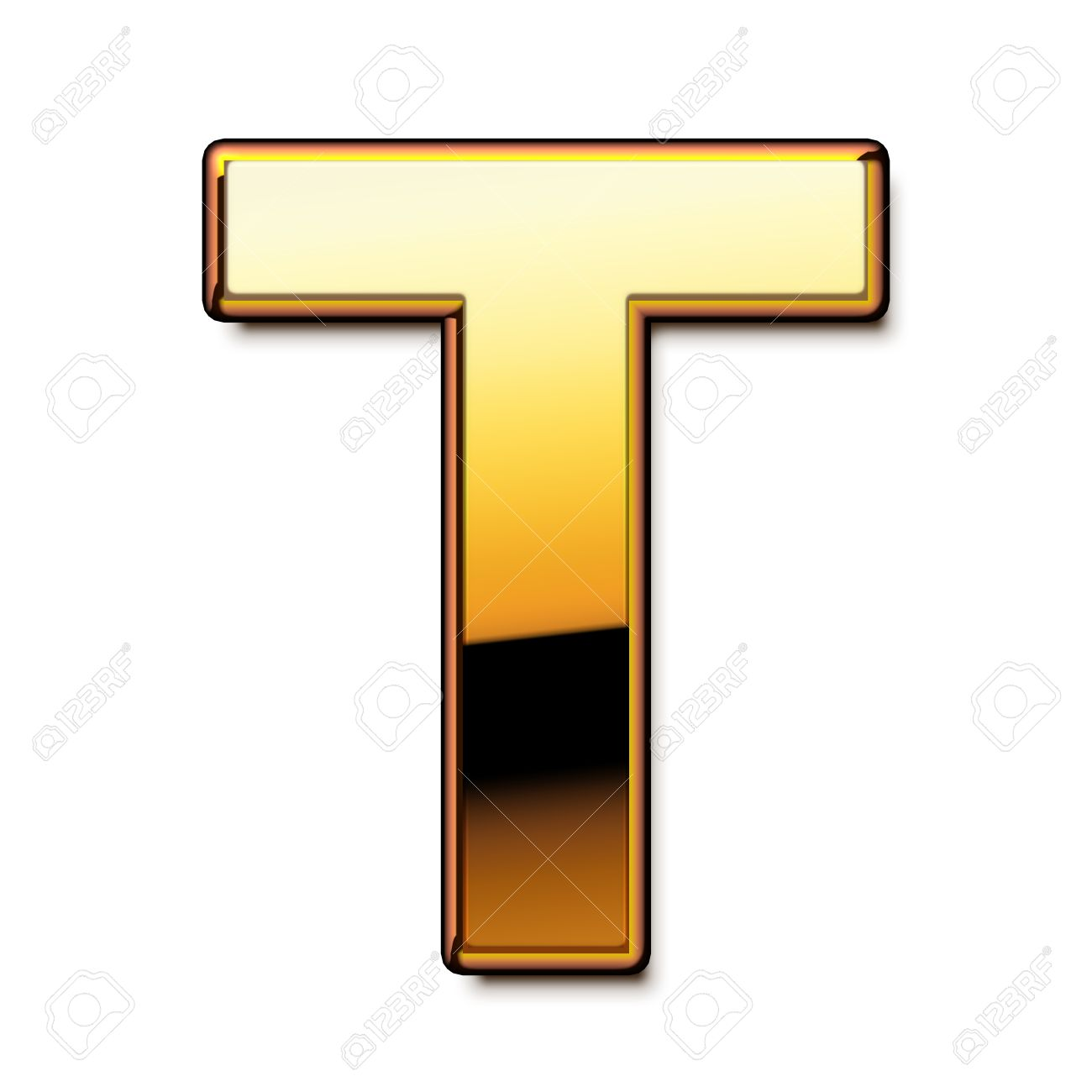 Gold Letter T Isolated Stock Photo, Picture And Royalty Free Image