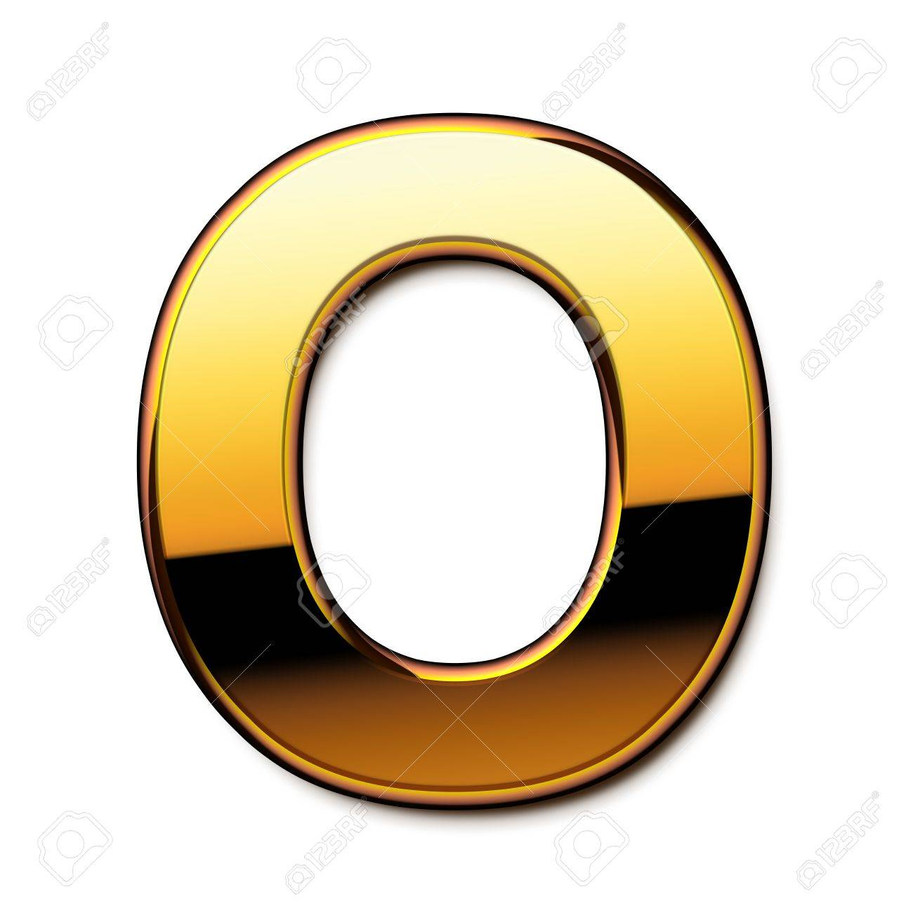 gold letter o isolated stock photo 21651568