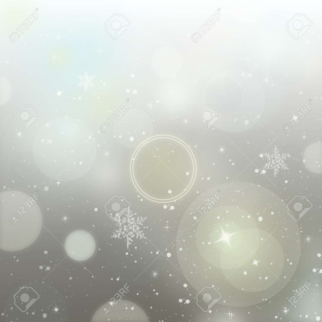 light silver abstract new year background with white snowflakes stock photo 16412941