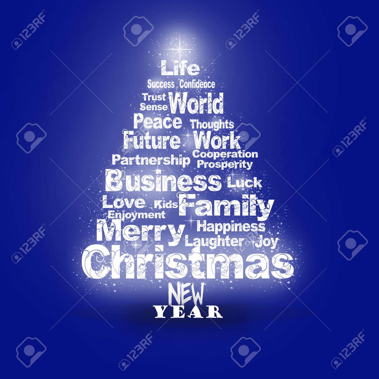 Weihnachtsgrüße Als Tannenbaum.Stock Photo