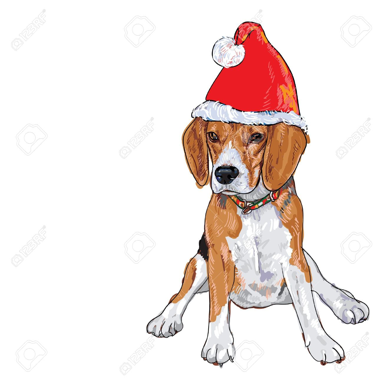 12,291 Dog Christmas Stock Illustrations, Cliparts And Royalty Free ...