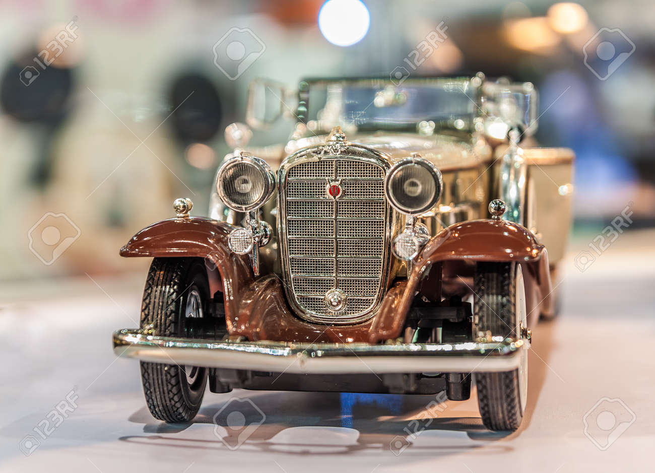A Little Model Of Classic Car On Bokeh Background Stock Photo Picture And Royalty Free Image Image 34349154
