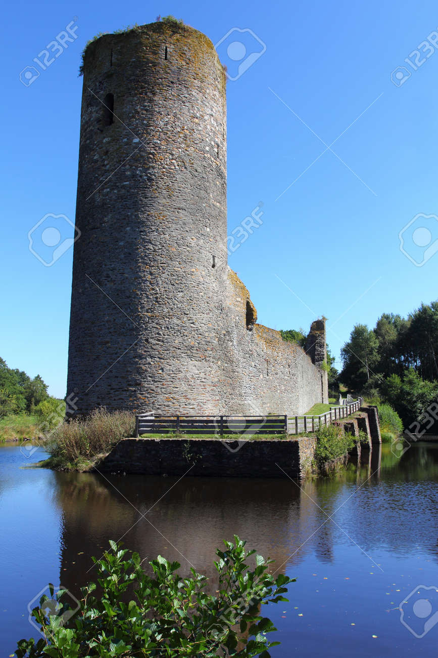 The Castle Baldenau Is The Ruins Of A Moated Castle In Morbach Stock
