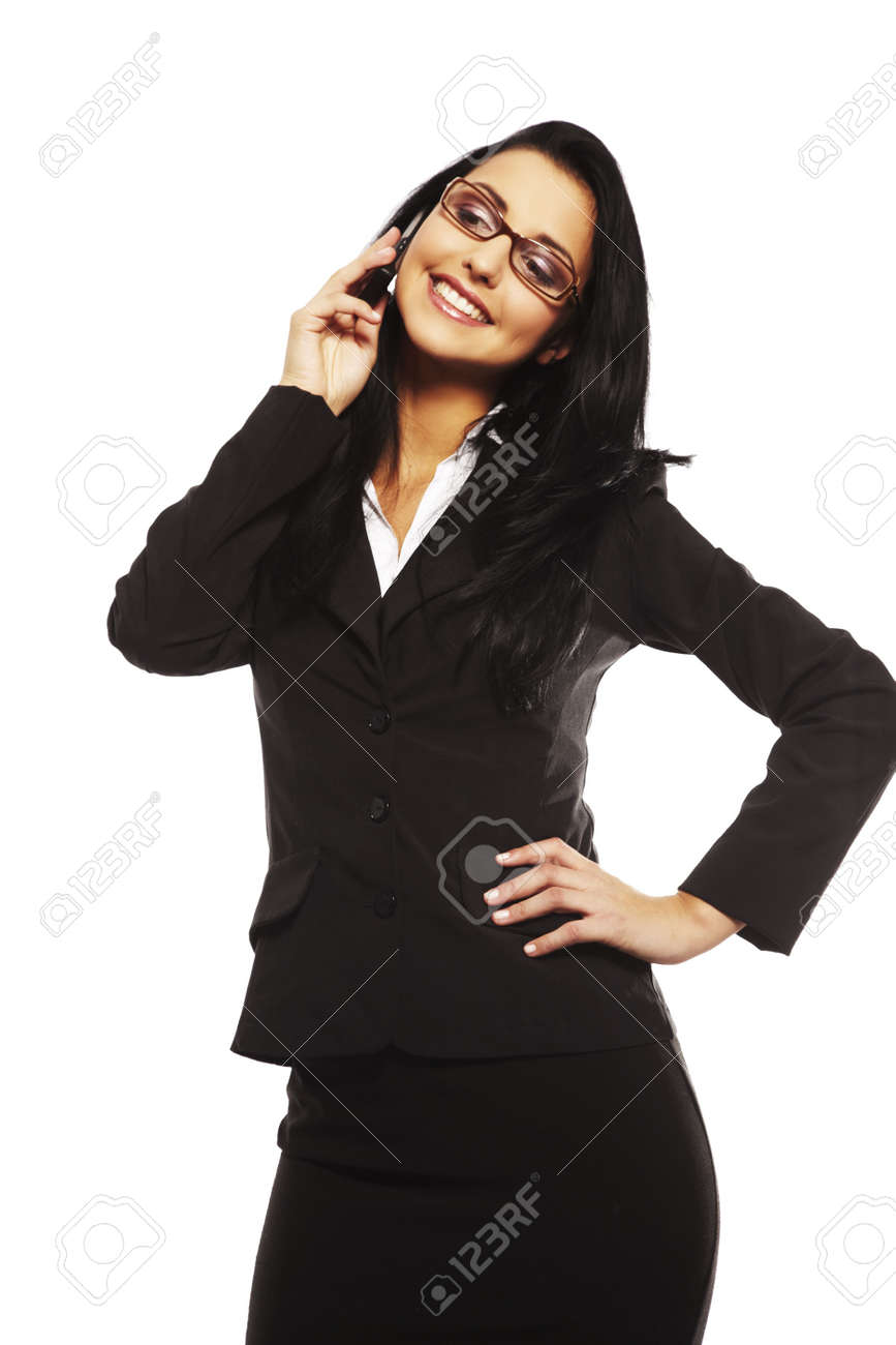 beautiful young woman calling by mobile phone Stock Photo - 5721531