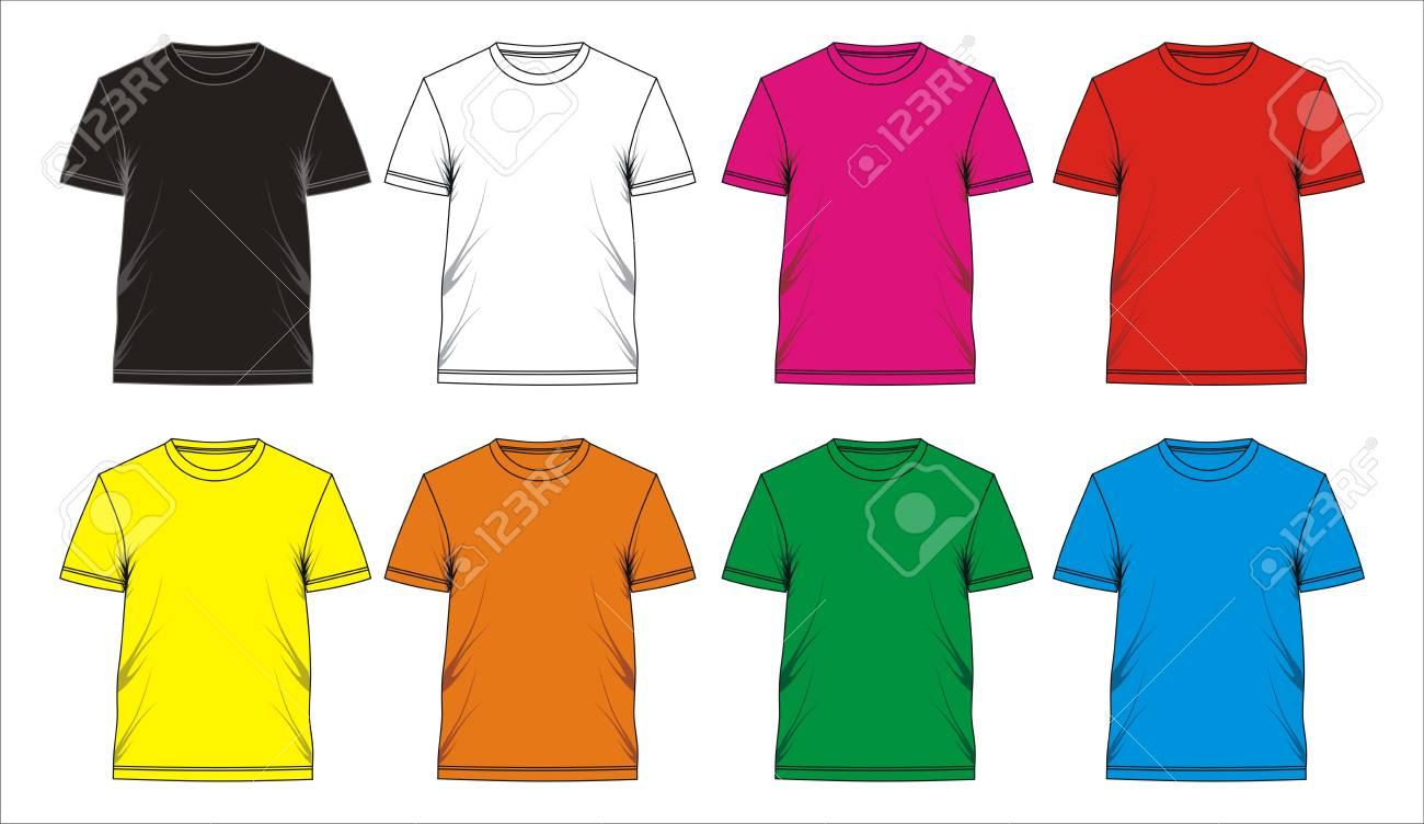 Diseño Plantilla Camiseta, Vector. Ilustraciones Vectoriales, Clip ...