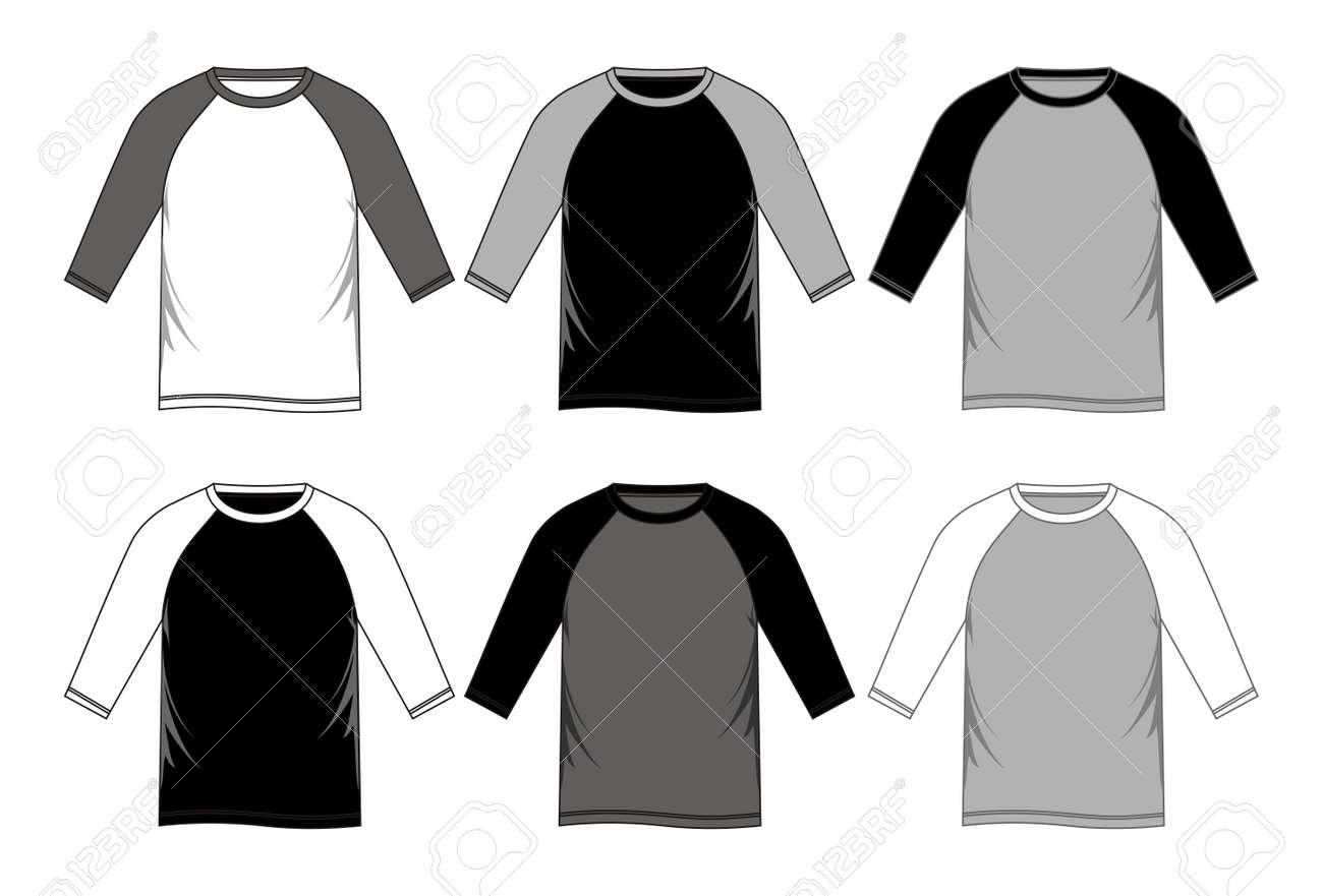 Raglan T Shirt Templates Royalty Free Cliparts Vectors And Stock