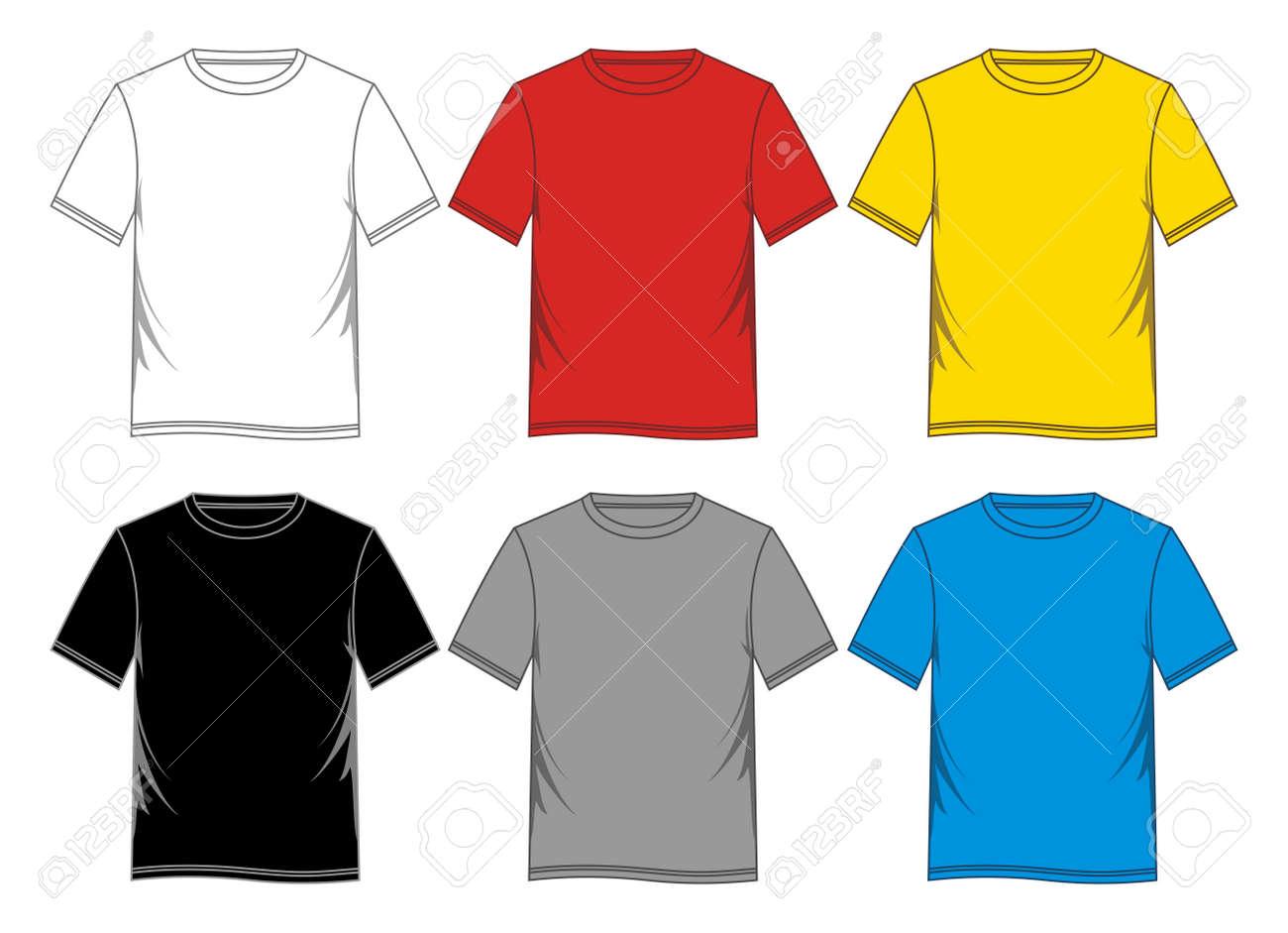 T Shirt Template Vector