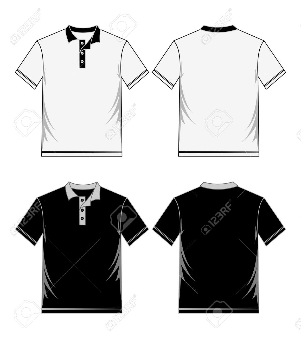 Shirt Template Black White Royalty Free Cliparts Vectors And Stock