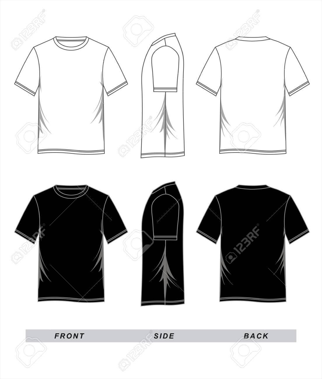 Tshirt Template Vector Illustration Royalty Free Cliparts Vectors