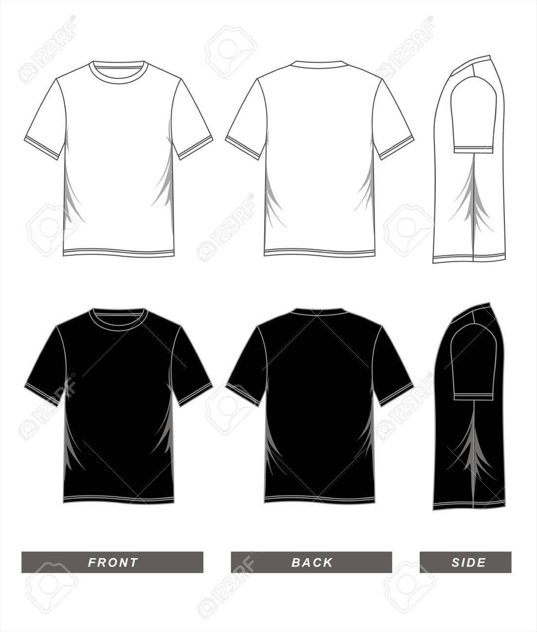 Camiseta Plantilla Ilustración Vectorial En Blanco. Ilustraciones ...