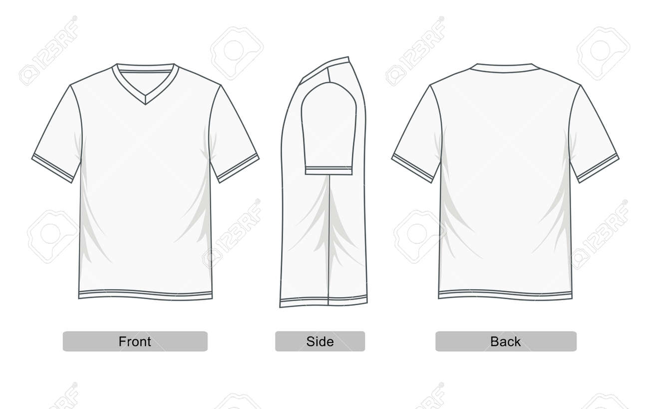 a4287851a Men's Short Sleeve Raglan V Neck T Shirt Royalty Free Cliparts ...