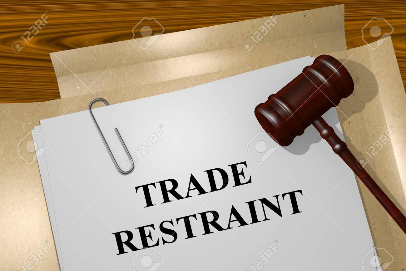 Render illustration of Antitrust Title On Legal Documents - 47834152
