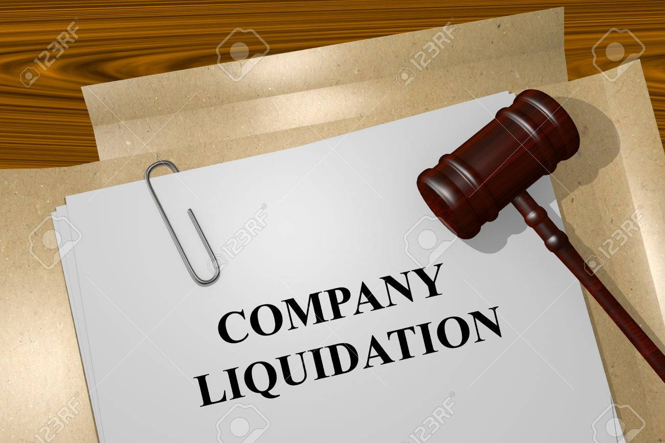 Render illustration of Company Liquidation Title On Legal Documents - 48603765