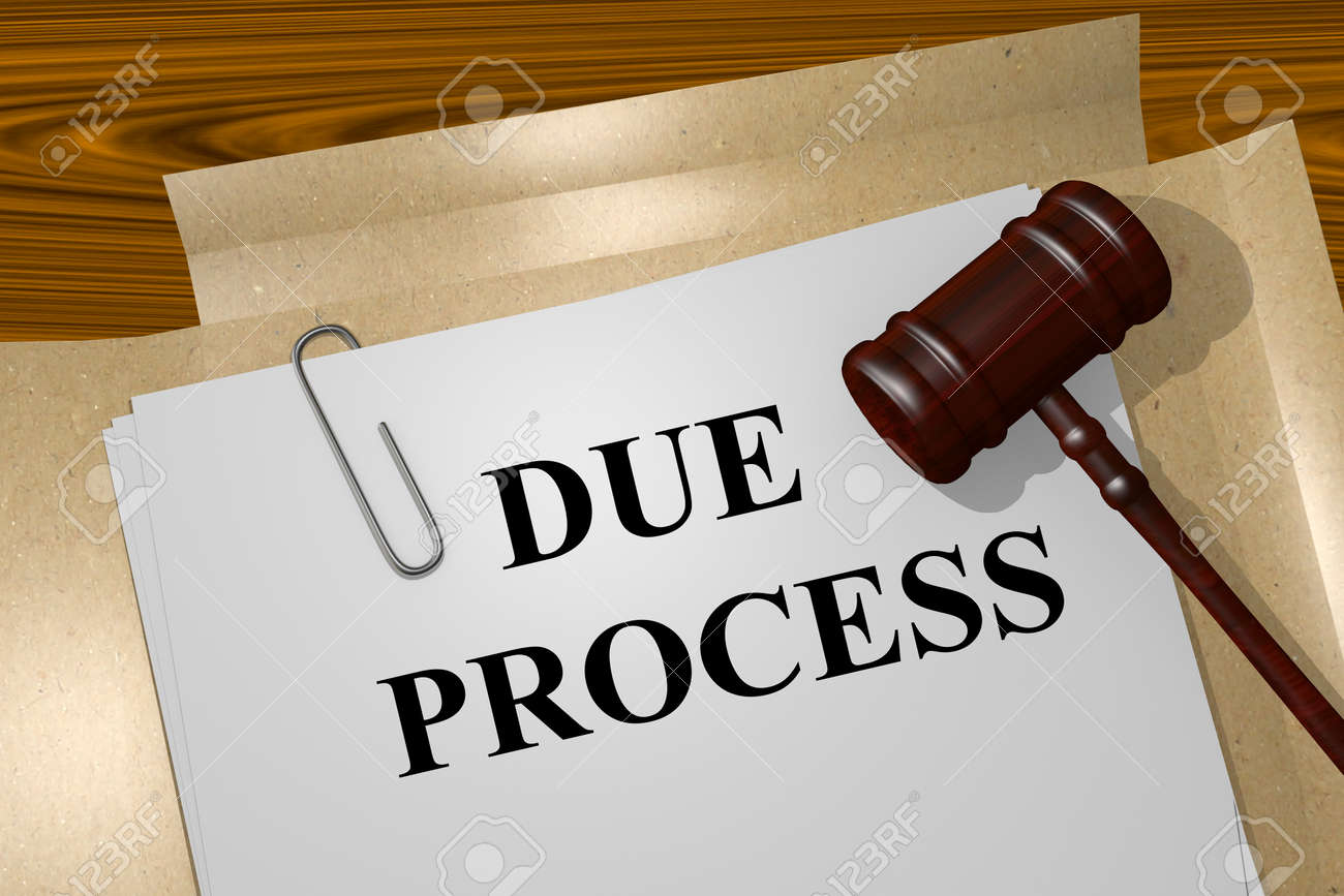 Render illustration of Due Process Title On Legal Documents - 50158822