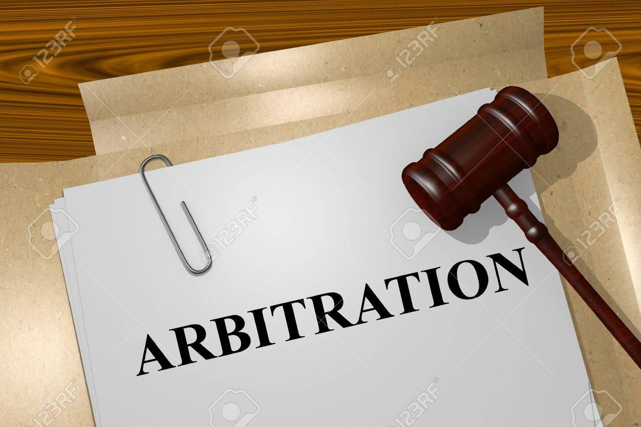 Render illustration ofArbitration title on Legal Documents - 50160049