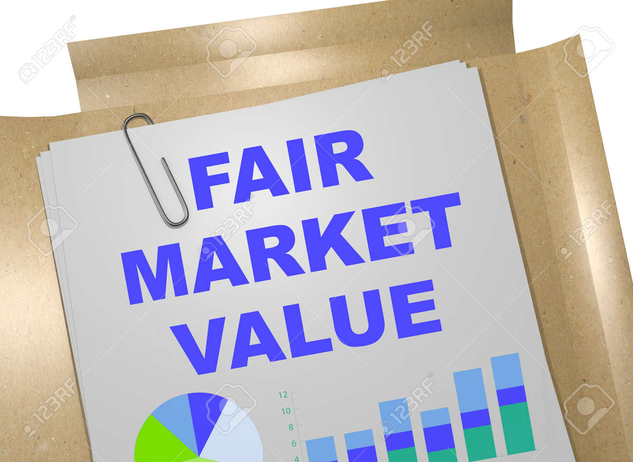 Fair Market Value >> 3d Illustration Of