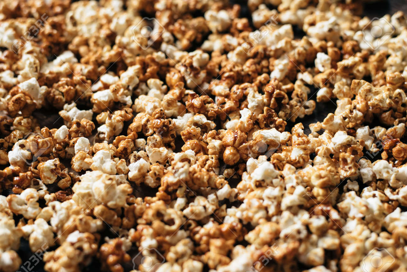 Heap Of Fresh Popcorn As A Background Wallpaper And Backdrop