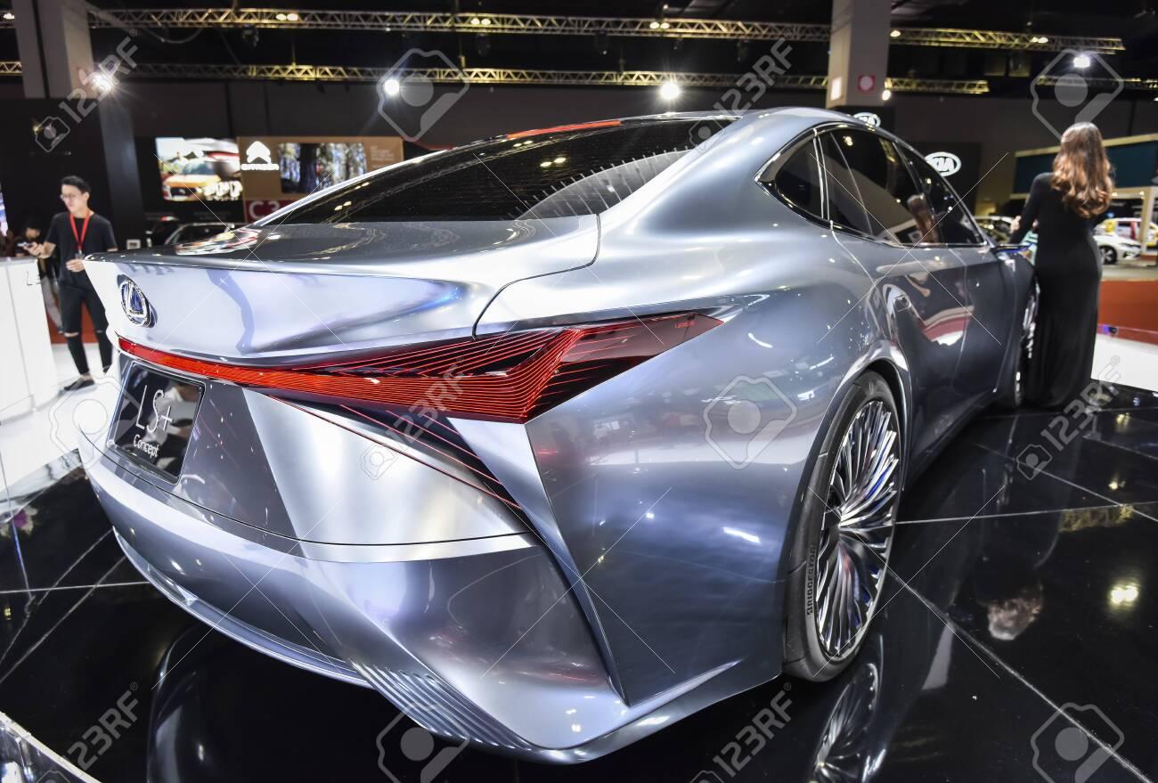 KUALA LUMPUR, MALAYSIA - DEC 3, 2019 : View of back new Lexus LS+ Concept displayed at Kuala Lumpur International Motor Show - 146911546
