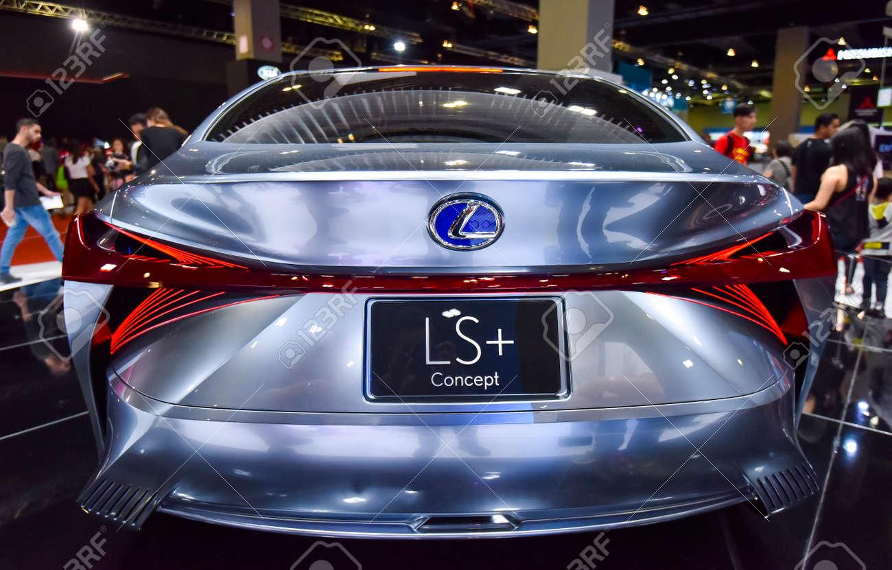 KUALA LUMPUR, MALAYSIA - DEC 3, 2019 : View of back new Lexus LS+ Concept displayed at Kuala Lumpur International Motor Show - 150570802