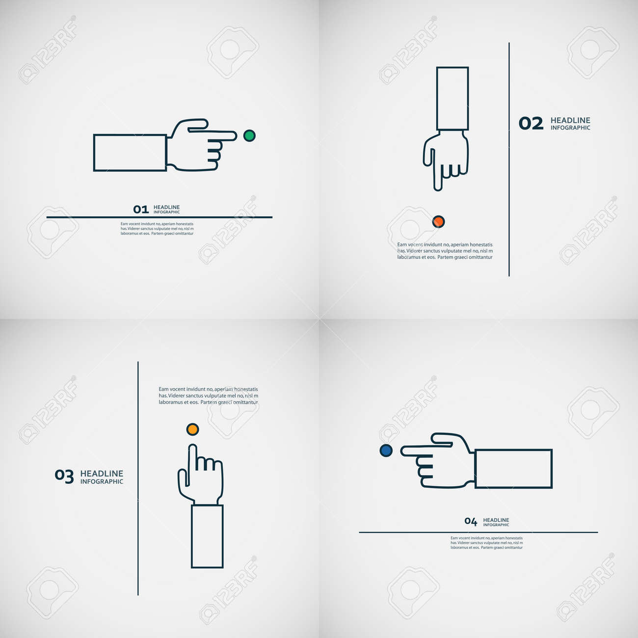 Outstanding Set Of Vector Hand With Index Finger Royalty Free Cliparts Vectors Wiring 101 Eattedownsetwise Assnl