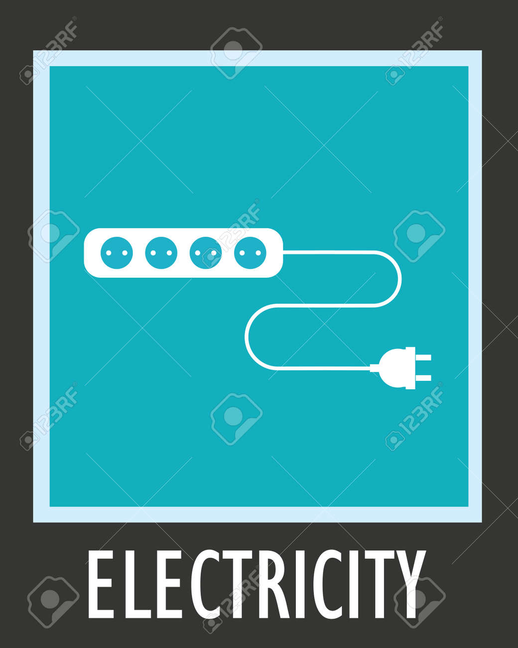 Wire, Socket And Electric Plug Vector Design. Royalty Free Cliparts ...