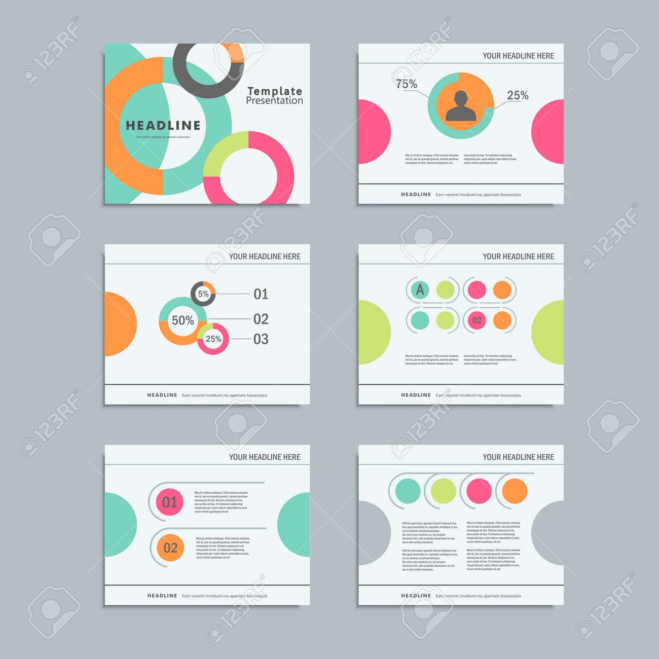 Set-Vorlagen Infografiken Für Präsentationen, Geschäfts, Layout ...