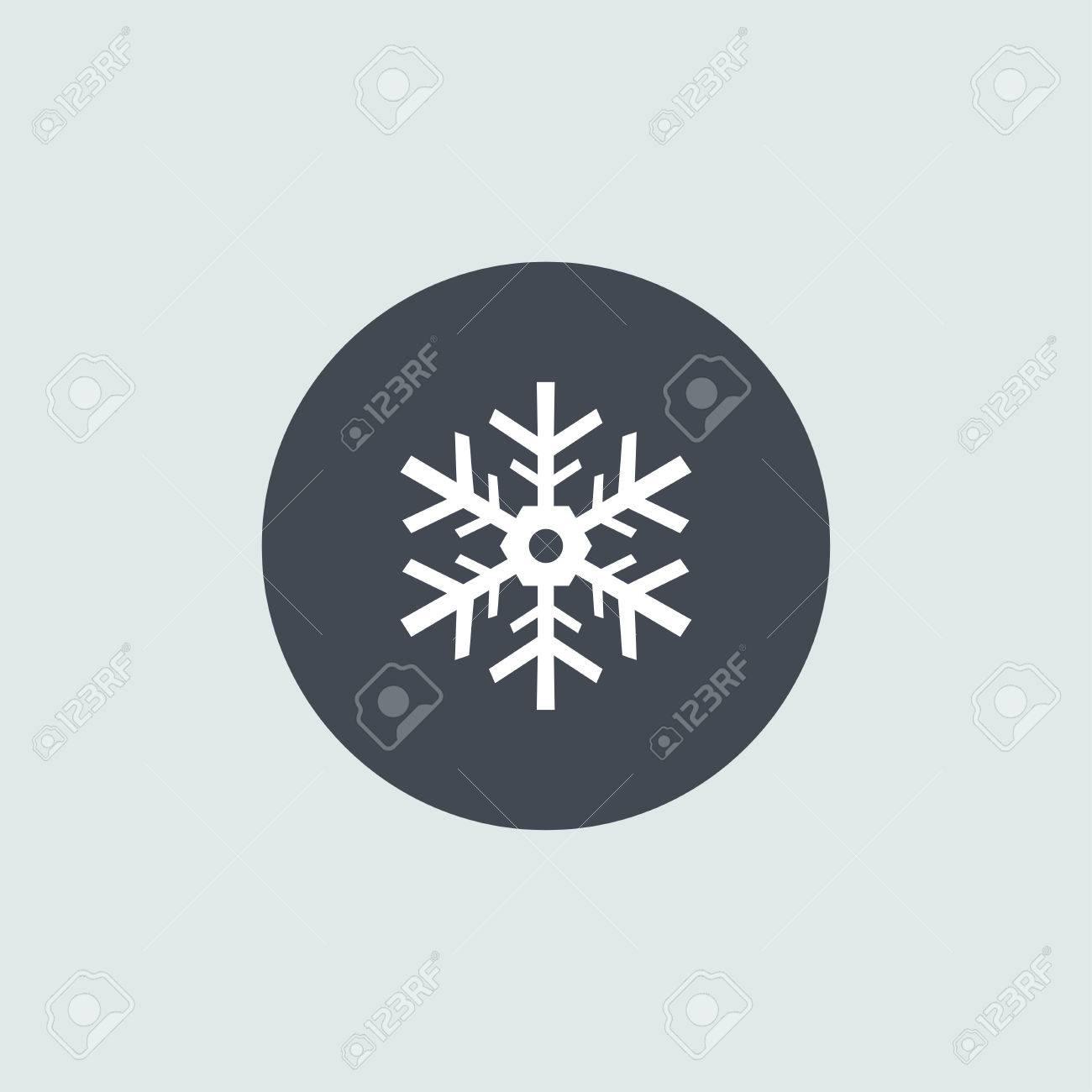 Icon Christmas snowflakes for holiday season. - 47450099