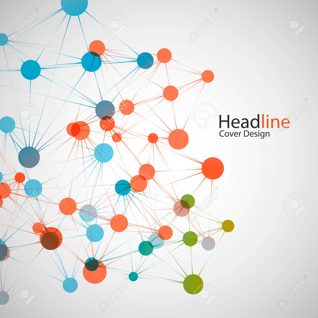 vector network background for presentation connect concept royalty