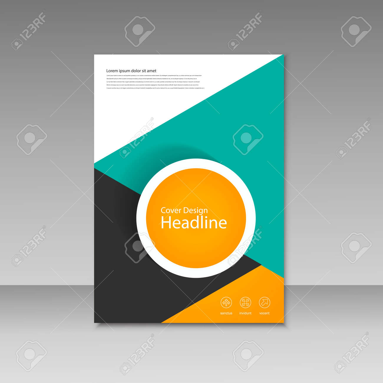 vector cover design for brochure template royalty free cliparts