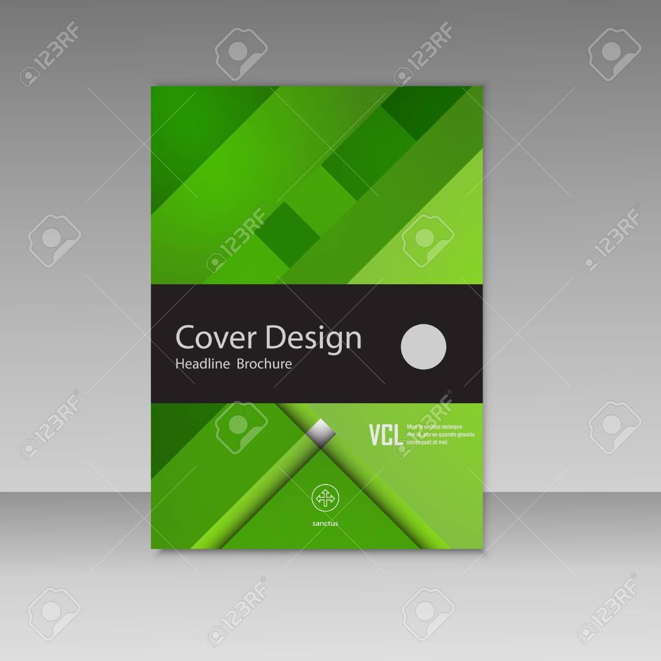 Abstract Vector Graphics Beautiful Brochures Templates Set