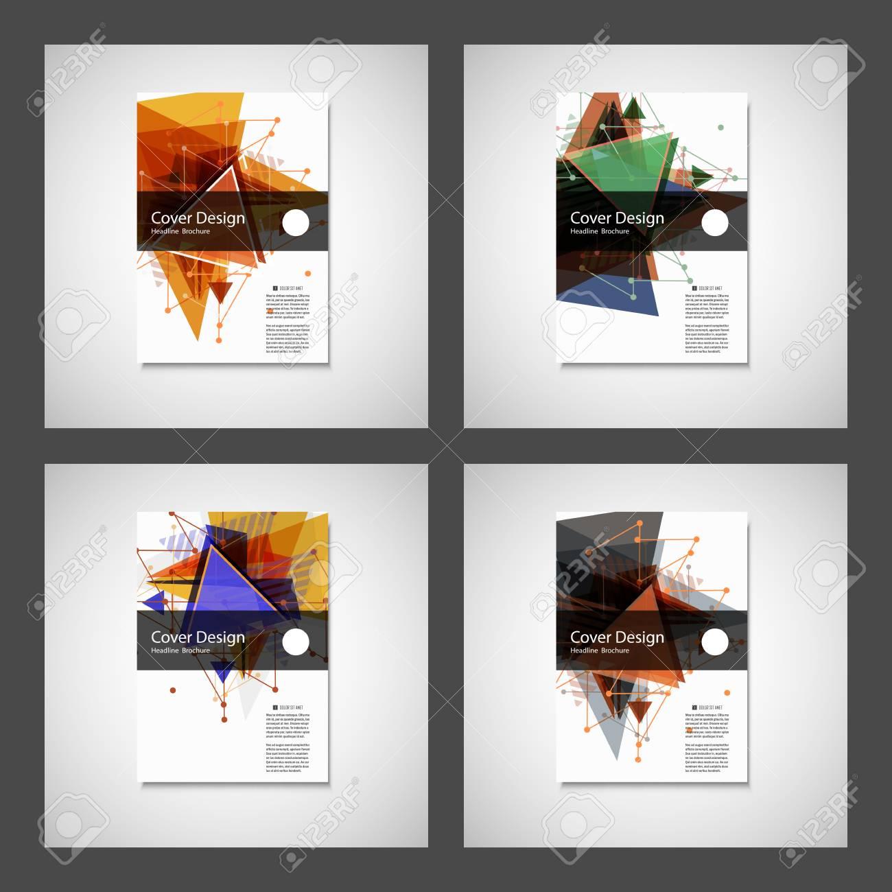 Abstract Triangle Brochure design. Modern vector illustration. - 63591485