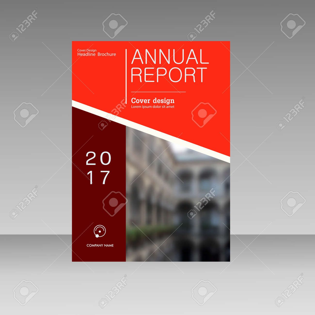 annual report business magazine vector template cover book