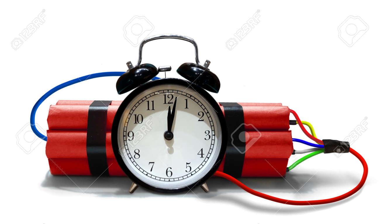 Time Bomb With Analog Alarm Clock Royalty Free Stock-fotók, Képek és  Stock-fotózás. Image 146803109.