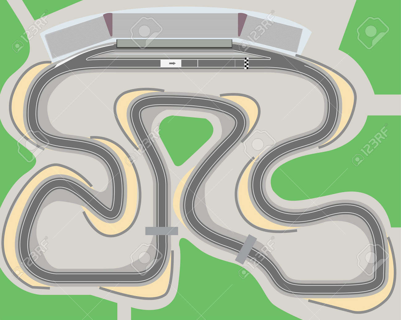 race track  Racing circuit  Race Track Road Clipart