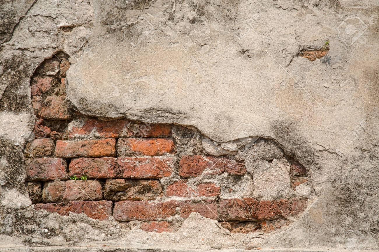 Carta Da Parati Su Muro Ruvido.Muro Di Mattoni Rossi Dell Annata Con Lo Sfondo In Gesso Arrugginito Bianco Carta Da Parati Retro Rossa Bianca Astratto Modello Ruvido Urbano