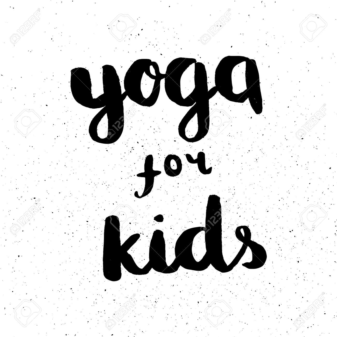 Quotes Yoga Poster With Quotes Lettering Yoga For Kidsfitness Typographic