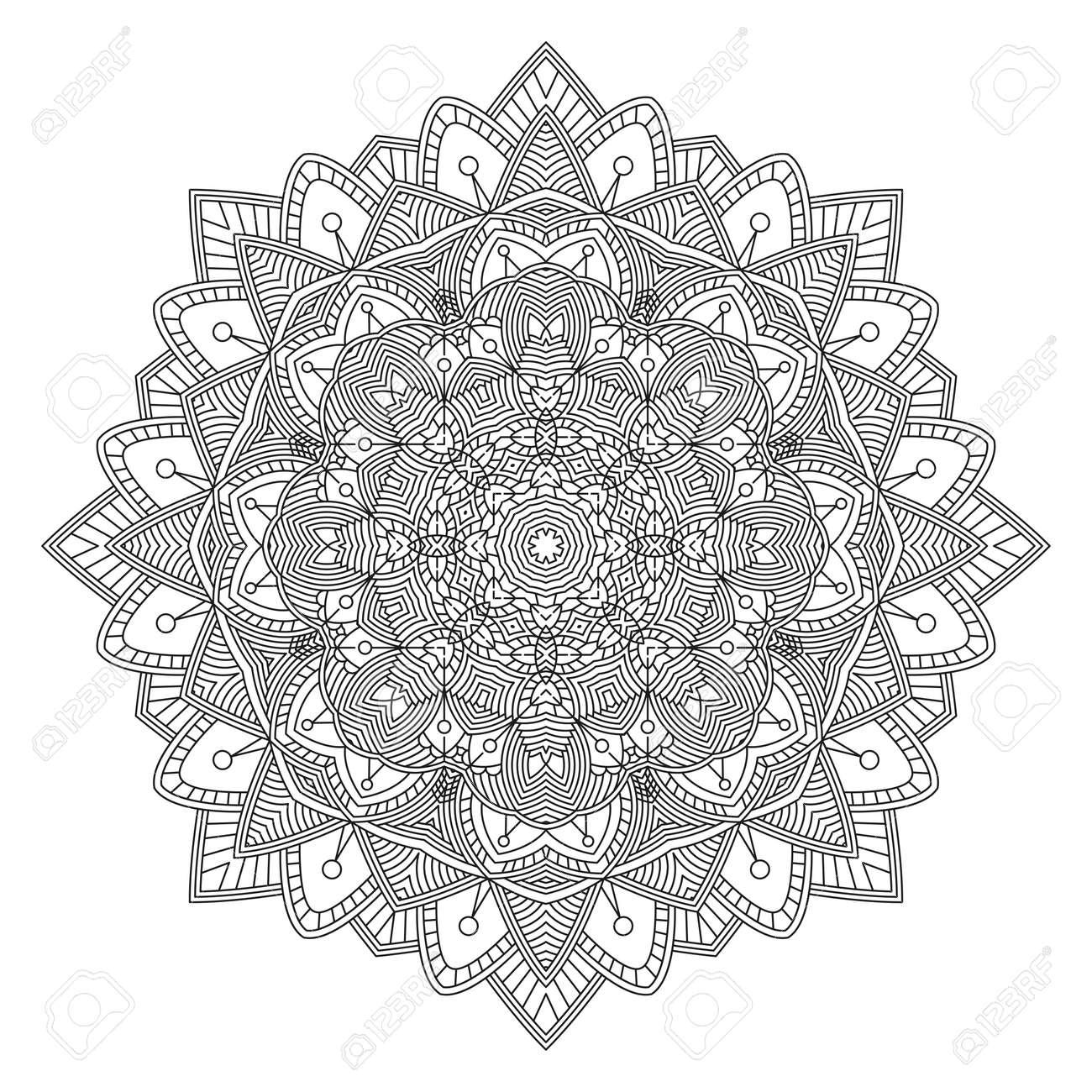 Fantástico Desafiantes Mandalas Para Colorear Festooning - Enmarcado ...